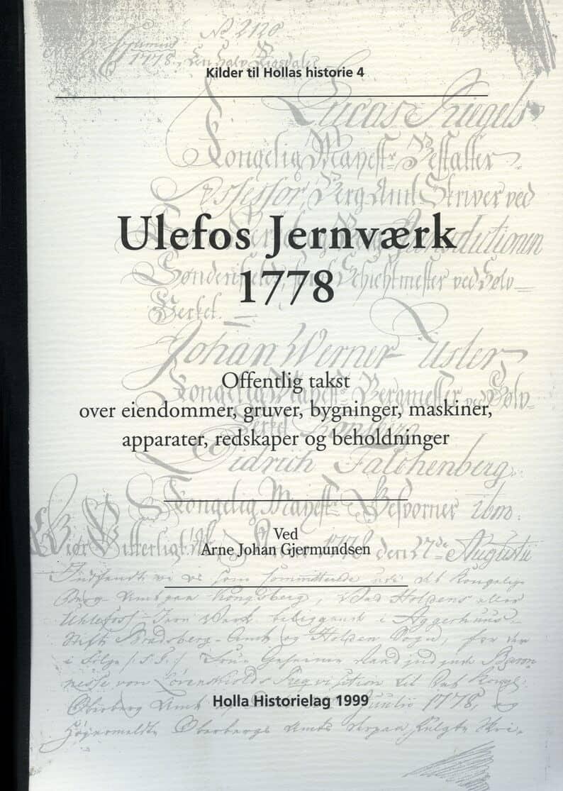 Gjermundsen: Ulefos Jernværk 1778