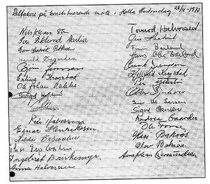 Stifternes signaturer