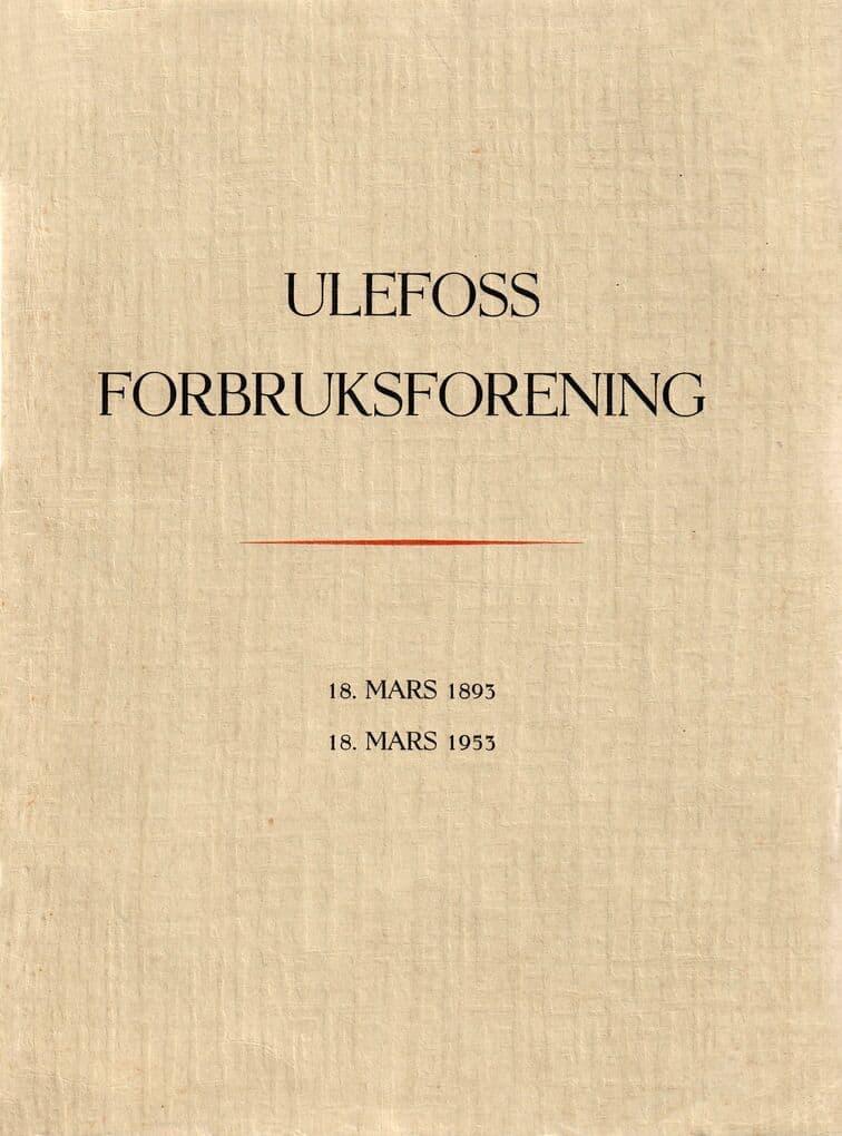 Skårdal: Ulefoss Forbruksforening 60-års jubileum