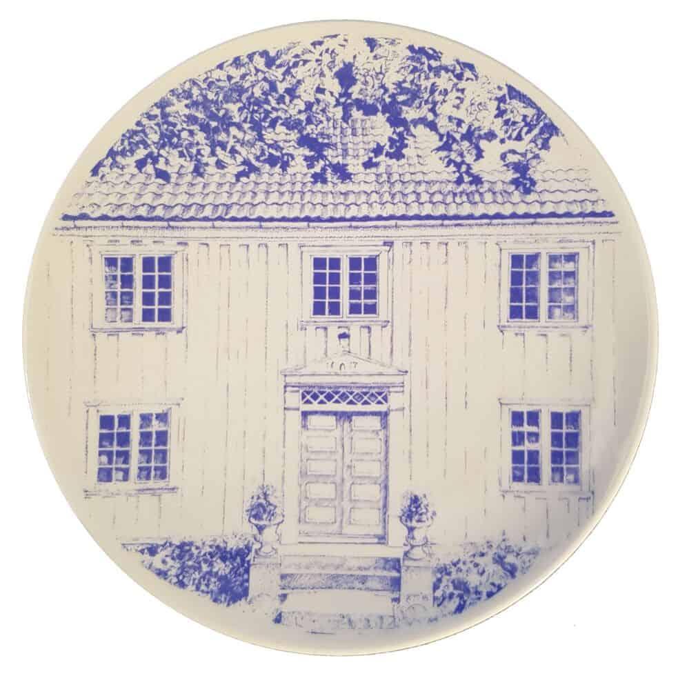 Kjell Thorjussen: Hovedbygningen på Baksås Øvre<br /> Oppført 1817