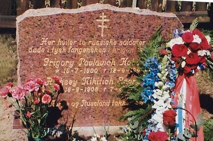 Krigsminnesmerke på Valebø kirkegård