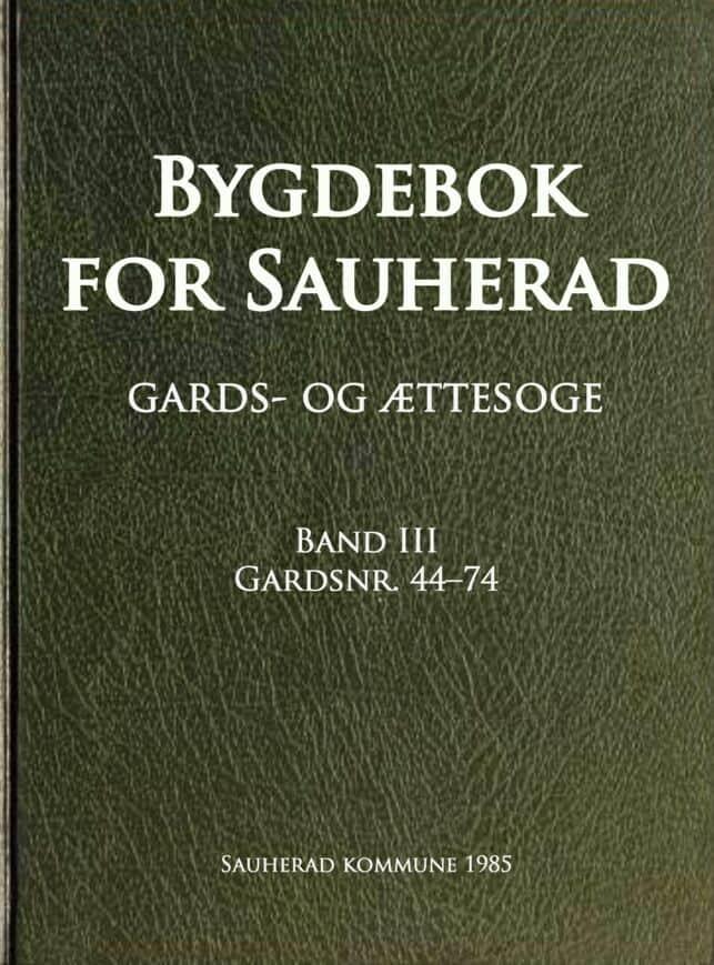 Kirkeby: Bygdebok for Sauherad: gards- og ættesoge: band 3