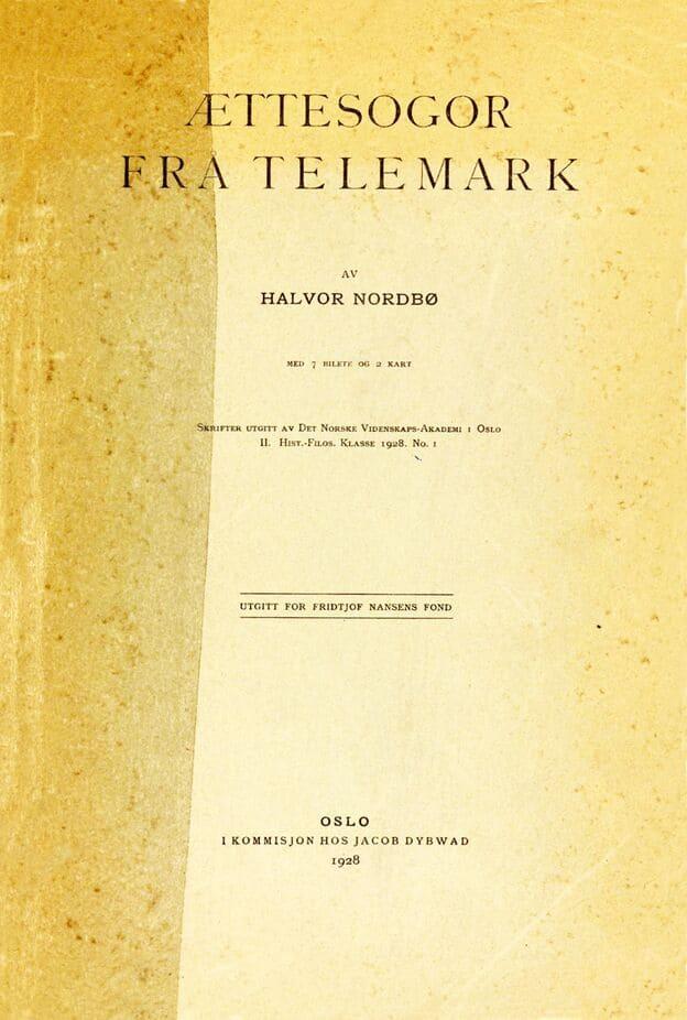 Nordbø: Ættesogor frå Telemark