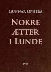 Opheim: Nokre ætter i Lunde