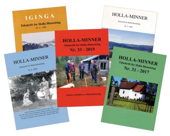Tidligere utgaver av Holla-minner
