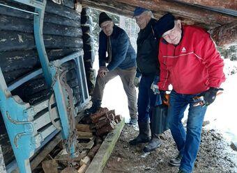 Tømmerslede på Stallane