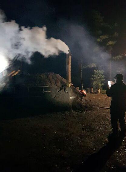 Kullmile ved Nes Jernverk høsten 2020 (#1)