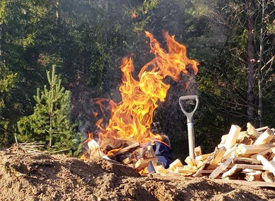 Kullmile ved Nes Jernverk høsten 2020 (#2)