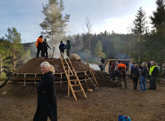 Kullmile ved Nes Jernverk høsten 2020 (#3)