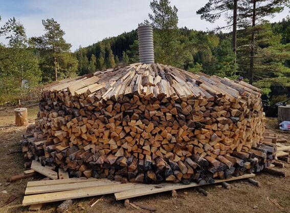Kullmile ved Nes Jernverk høsten 2020 (#9)