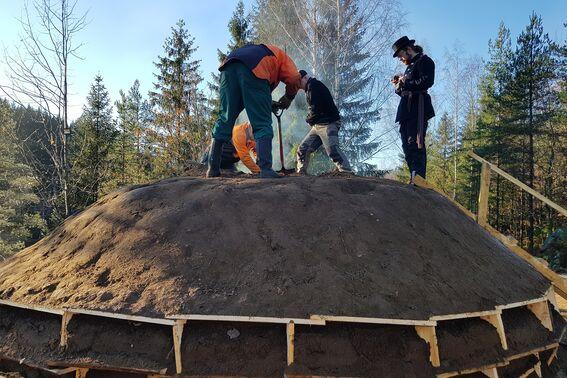 Kullmile ved Nes Jernverk høsten 2020 (#4)