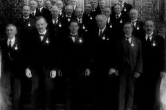 Arbeidere med medalje for lang og tro tjeneste hos S. D. Cappelen i 1936.