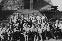 Berget skole på tur i Stavern 1953