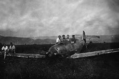 Et tysk fly nødlandet på Øra på Ulefoss i 1940
