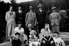 Familien Grini på Lifjelltur 1935