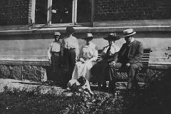 Familien Nordh i Posthusgården