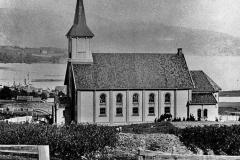 Gammelt bilde av Holla kirke