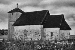 Gammelt bilde av Romnes kirke