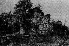 Holla kirkeruin - før restaureringen 1923-1925