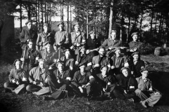 Milorgtropp fra Holla på oppdrag i Valebø mai 1945