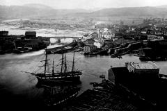 Skien etter at kanalen sto ferdig i 1861