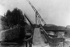 Ulefoss sluser tidlig på 1900-tallet