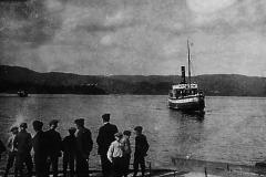 Ved Ulefoss brygge i 1920