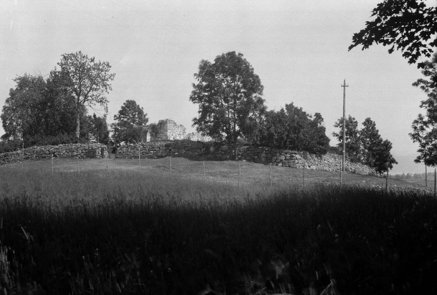 Restaurering av Holla kirkeruin 1923–25